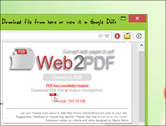 Convert Any Web Page in PDF