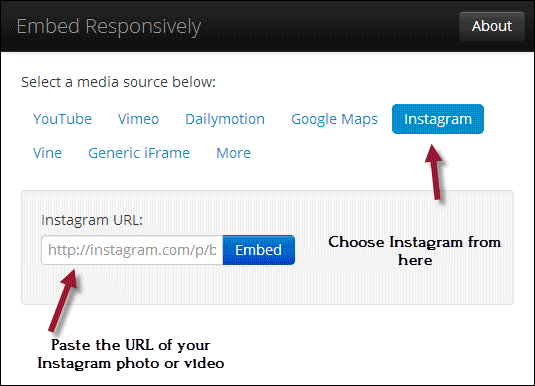 Responsive-Instagram-photo-embed